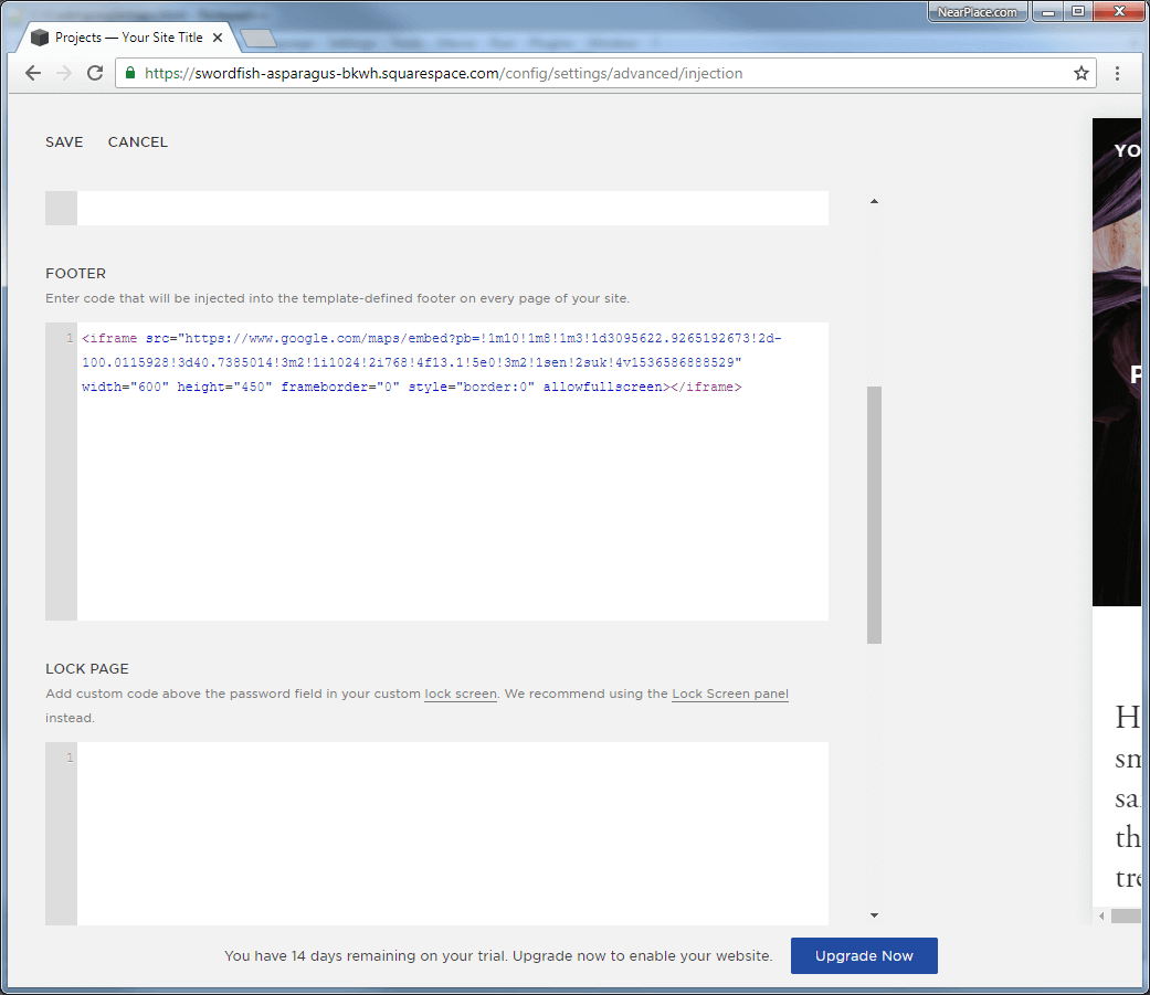 SQUARESPACE-CODE-INJECTION