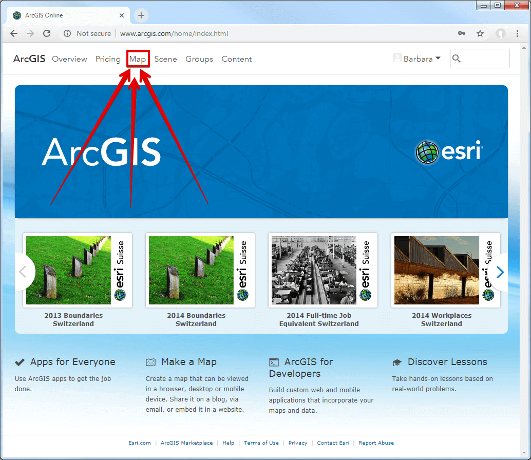 arcgis-map-tab