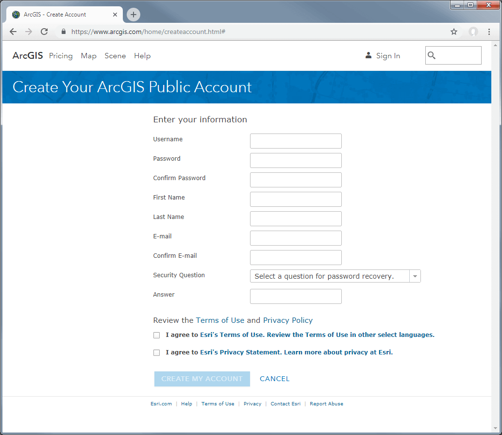 arcgis-registration