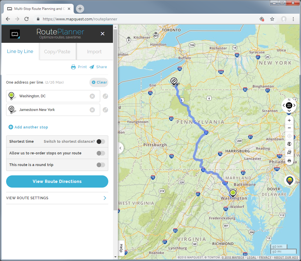 MAPQUEST-ROUTE-PLANNER