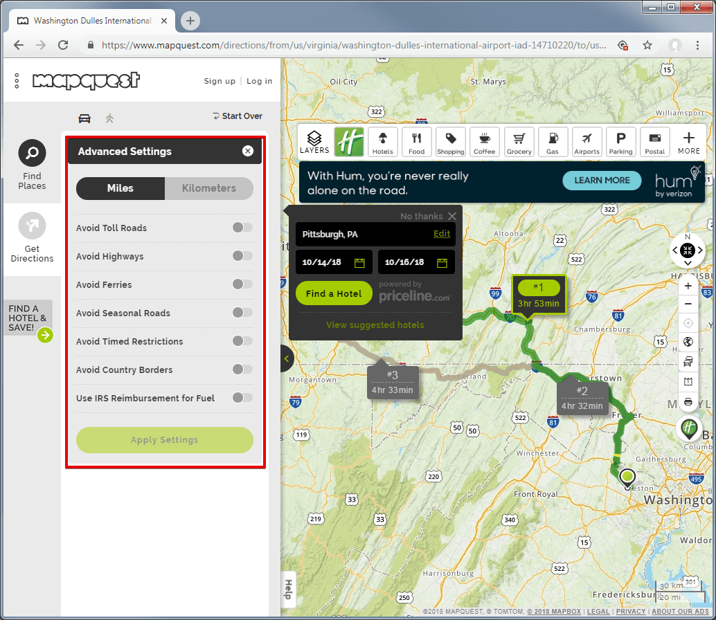 mapquest-directions-advanced-settings
