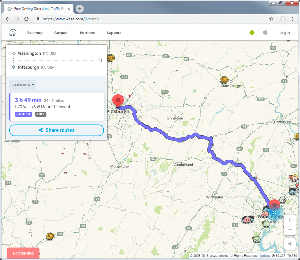 12 Best Applications for Driving Directions • NearPlace.com Driving Direction Map on